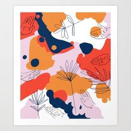 Creation #abstract #digitalart #human Art Print
