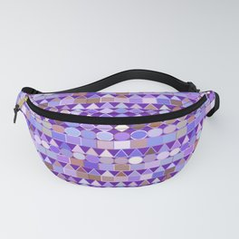 Modern Tribal Geometric, Amethyst Purple and Taupe Fanny Pack
