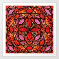Red Zen Love Art Print