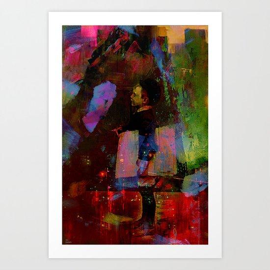 Just around the corner  Art Print