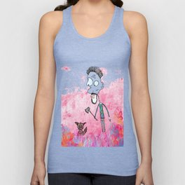 Little cat and the guy with ax, colors Unisex Tank Top