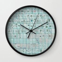 The Complete Voynich Manuscript - Blue Tint Wall Clock