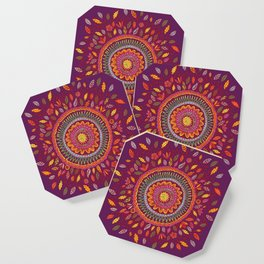 Leafy Fall Mandala Coaster