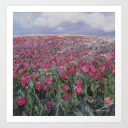Flower Fields Art Print