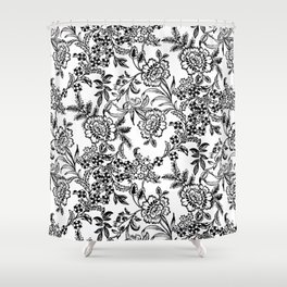 Full Moon Tea Reversed Shower Curtain