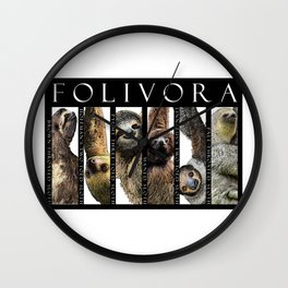 Sloths of South and Central America Wall Clock