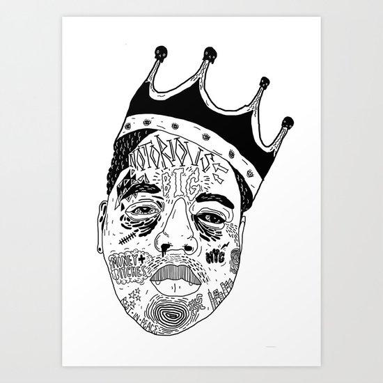 B.I.G Art Print