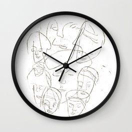 Uinuvat / The Sleepy Heads Wall Clock