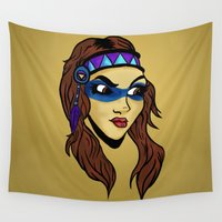 native Wall Tapestries featuring Native by Joe Baron