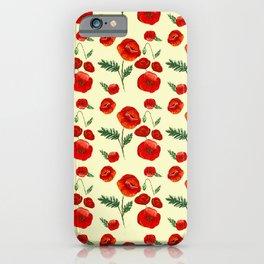 Gouache Poppy Patterns iPhone Case