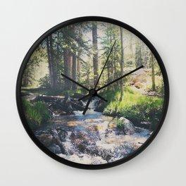 a mountain stream ... Wall Clock