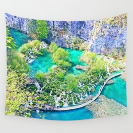 Waterfall Oasis Wall Tapestry