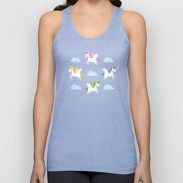 Cute winged horses Unisex Tank Top