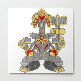 Kommo-o  Tiki Metal Print