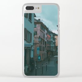 Zurich Alley I Clear iPhone Case
