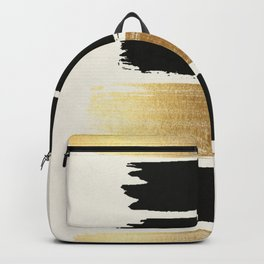 Brush Strokes (Black/Gold) Backpack