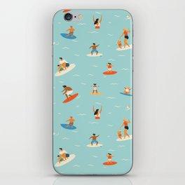 Surfing kids iPhone Skin