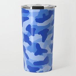 Blue Camo Camouflage  Travel Mug