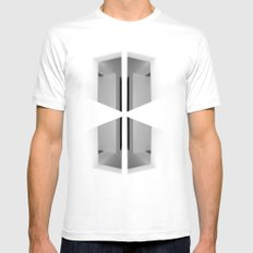There. Macba, Barcelona MEDIUM Mens Fitted Tee White