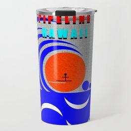 Pipeline Hawaii stickman design A Travel Mug