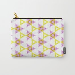 Bright Yellow Lilac Pattern Design Carry-All Pouch