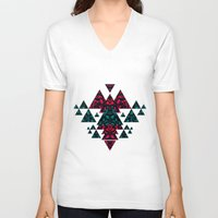 crystals V-neck T-shirts featuring Crystals  by Claudia Owen