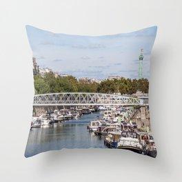 Canal Saint Martin - Paris Throw Pillow