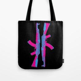 Neon AK-47 Tote Bag