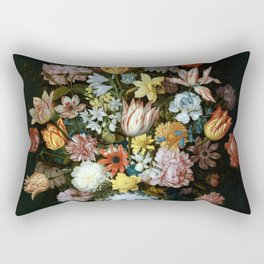 Flowers in Vase Rectangular Pillow