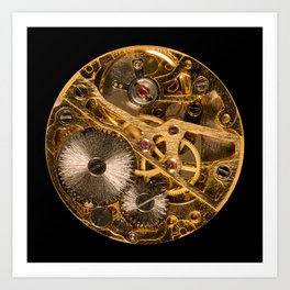 Time is passing by - antique watch Art Print