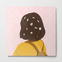The Flower lady Metal Print