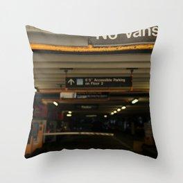 No Vans Throw Pillow