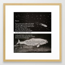 Issue 34 of Petite Hound Press: Jessie Vail Aufiery and Alyse C. Bernstein Framed Art Print