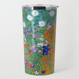 Gustav Klimt - Cottage Garden Travel Mug