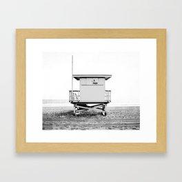 Beach Photography black and white print Framed Art Print