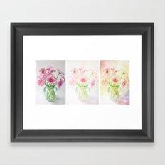 Gerbera Evolution Art Triptych Framed Art Print