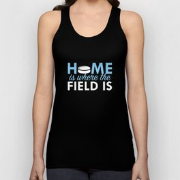 Home Is Where The Field Is Unisex Tank Top