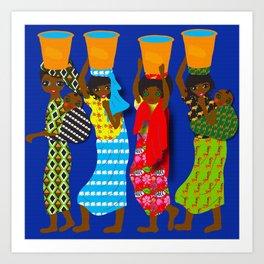 Cameroon Ladies Art Print