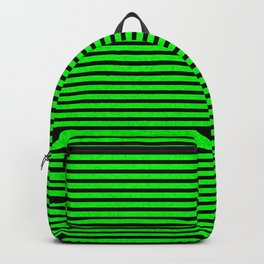 Neon Green Stripes Backpack