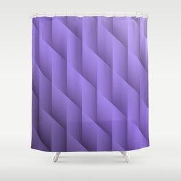 Gradient Purple Diamonds Geometric Shapes Shower Curtain