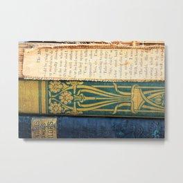 Antique Book Textures Metal Print