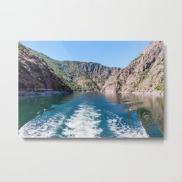 Sil river canyon in Orense - Galicia, Spain Metal Print