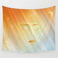 metropolis Wall Tapestries featuring METROPOLIS v.2 by victimArte