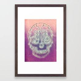 Trippy Sugar Skull Framed Art Print