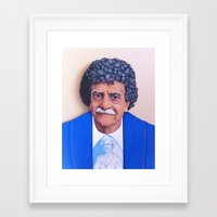 kurt vonnegut Framed Art Prints featuring Kurt Vonnegut by Tim Frame