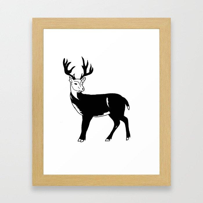 Stag Print Framed Art Print