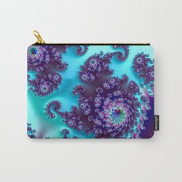 Jewel Tone Fractal Carry-All Pouch