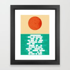Sun over the sea Framed Art Print
