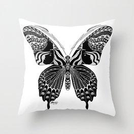 Butterfly Spirit Animal Throw Pillow