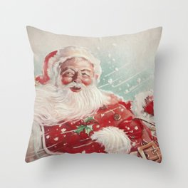 Cute vintage Santa Claus Throw Pillow